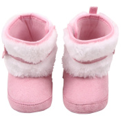 UHBGT Baby Shoes Cotton High Help Girls Boots Winter Soft Sole Infant Non-slip Toddler Shoes for 0-1 Years Old
