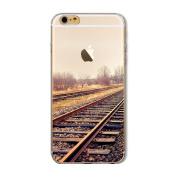 iPhone 8 Plus Case, Txibi Fashion City Landscape Design Flexible TPU Slim Phone Protect Case Cover for iPhone 8 Plus 14cm