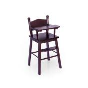Guidecraft Espresso - Dark Cherry wooden Doll High Chair - Fits 5.5m American Girl Dolls G98105