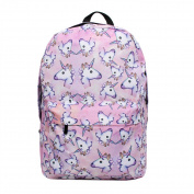 Unicorn Backpack for Girls, Tezoo 3D Unicorn Print Multi Colour Rainbow Unicorn Backpack, School College Bag for Teens Girls Students