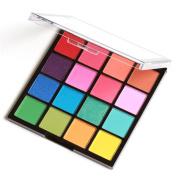 RNTOP 16 Colours Cosmetic Powder Smoky Eyeshadow Palette Makeup Set Matt Available