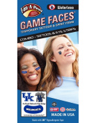 University of Kentucky (UK) Wildcats – Waterless Peel & Stick Temporary Tattoos – 12-Piece Combo – Eye Strips