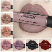 Women Professional Make-up Lip Glosses Colourful Lipstick Long-lasting Red Wine for Girls by TOPUNDER C