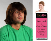 Shaggy Scooby Doo Colour Light Brown - Enigma Wigs Men's Shaggi Norville Rogers Cartoon Character Bundle with Wig Cap, MaxWigs Costume Wig Care Guide