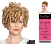 Dimples Shirley Temple Colour Blonde - Enigma Wigs Women's Tight Curly Top Child Movie Star Bundle with Wig Cap, MaxWigs Costume Wig Care Guide