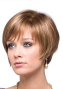 Short Bob Wigs Straight Blonde Wigs Pixie Cut Wigs High Resistant Synthetic Wigs For Women 20cm