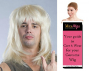 80s Rocker Metal Band Colour Blonde - Enigma Wigs Garth Waynes World Hair Hard Rock 1980s Men's Bundle with Wig Cap, MaxWigs Costume Wig Care Guide