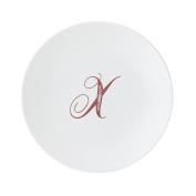 Lenox 878363 Merlot Script X Accent Plate