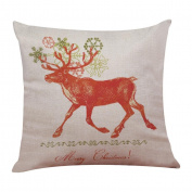 Rosiest New Christmas Cotton Linen Pillow Case Sofa Cushion Cover Home Decor 45x45 cm