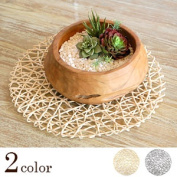 2 colour paper straw round placemats [single] deployment [60220-60221]