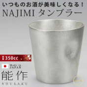 To a whiskey and beer, cup for soba soup and soup cup made in ability product NAJIMI tumbler 350cc glass tin 100% Japan