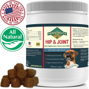 Natural Hip and Joint Supplement for Dogs Soft Chew - Pain Relief & Prevention, Glucosamine For Dogs Made with Chondroitin & MSM for Healthy Hips & Joints, Made in the USA