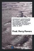 Economic Monographs No. XVIII