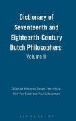 Dictionary of Seventeenth and Eighteenth-Century Dutch Philosophers