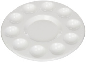 COMIART Generic Round Professional Plastic Paint Platte Tray White