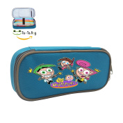 The Fairly OddParents Cosmo Pencil Case Holder Pen Box Student Stationery Canvas Bag Colours Optional Makeup Pouch blue