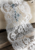 Richland Wide White Lace Ribbon Trim 15cm x 10 yards