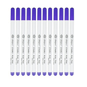 vLoveLife 12pcs Purple Water Erasable Pen & Air Erasable Pen Set Disappearing Ink Marking Pen Sewing Grommet Ink Fabric Marker/ Temporary Marking/ Auto-Vanishing Pen for Cloth