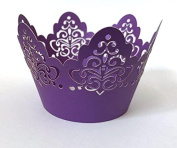 12 pcs Damask Crown Lace Design Cupcake Wrappers Wrapper for Standard Size Cupcake Liners (Choose Colour)