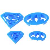 4 pcs set Super Hero Batman Superman Cookie Cutter Decoration