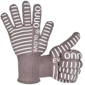 OUUO Kitchen BBQ Gloves Oven Mitts For Cooking Grilling or Baking