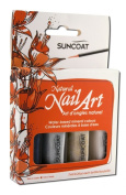 Suncoat Products inc Water-Based Natural Nailart Kit Classic, 4 PEACE