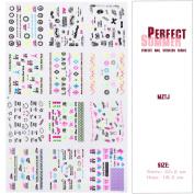 Perfect Summer 3D Design Nail Art Sticker Tip Decal Manicure Mix Colour Flower #09