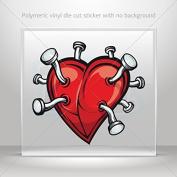 Stickers Decal Nails In My Heart Motorbike Vehicle Weatherproof Garage Durabl