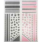 PerfectSummer 3D Nail Art Stickers Decals Mixed colour Mixe Designs Christmas Nail Tips