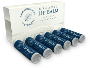 Lip Balm, Lip Care Therapy 6 Pack, Moisturiser Butter. Organic, 100% Natural Ingredients. Repair, Condition, Dry, Chapped, Cracked Lips. Made in the USA. Christina Moss Naturals (Natural Unflavored).