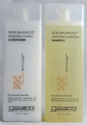 Giovanni 50:50 Balanced Remoisturizer Duo Set Shampoo Hydrating-Clarifying & Conditioner Hydrating-Calming, 250ml Each
