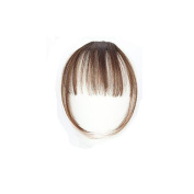 Ecurson Clip On Clip In Front Hair Bang Fringe Hair Extension Piece
