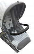Luvit Soft Leather Stroller Toddler Belly Bar Cover in Black for Toddler Seat Belly Bumper Bars and Stroller Handlebars