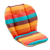 Baby Stroller Seat Liner Waterproof Reversible Rainbow Striped Seat Cushion Pad