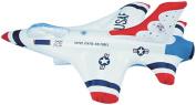 46cm White Inflatable Thunderbird Jet Aeroplane Aviation Pilot Toy Decoration