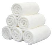 HOPESHINE Facial Cloths Antibacterial Microfiber Makeup Removing Cloths Fast Drying Face Wash cloths 6 pack