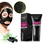 Blackhead Remover Mask Black Mud Face Mask Beauty - Deep Cleansing Purifying Black Peel off Charcoal Mask Mud Facial Mask Deep Pore Cleanse for Acne, Oil Control