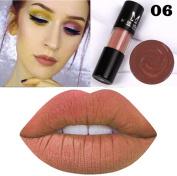 Cylindrical Matte Lipstick XUANOU Non-Stick Cup Lip Glosses Long Lasting Waterproof Lip Balm Sexy Charm Cosmetic Makeup Beauty Lip