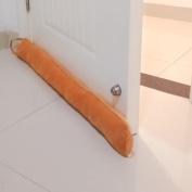 Bottom Door Draught Stopper, Weather Stripping Air Seal Gap Blocker Soundproof Door Sweep, 90cm length with Veltro