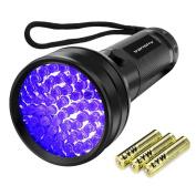 UV Flashlight, Vansky 51 LED Black Light Pet Urine Detection Ultraviolet Blacklight Detector For Dog/Cat Urine,Dry Stains,Bed Bug On Carpets/Rugs/Floor/Hotel Room