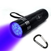 MyDeal VisiPET UV Ultraviolet 9 LED Blacklight Pocket Flashlight WITH BATTERIES for Revealing Pet Urine Stains from Dogs and Cats on Carpets, Rugs, Curtains and More! Includes Strap