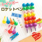 Stationery novelty premium pen-018 where the stationery coloured pencil set one of a kind which a rocket pencil has a cute is interesting