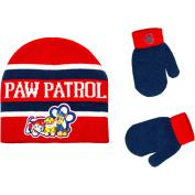 Paw Patrol Infant Toddler Boy Hat and Mitten Set