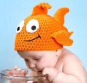 Hand-woven Knitting Goldfish Hat  Newborn