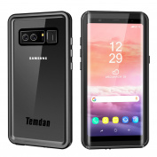 Temdan Samsung Galaxy Note 8 Waterproof Case with Kickstand and Floating Strap IP68 Waterproof Shockproof Protective Clear Case with Built in Screen Protector for Galaxy Note 8