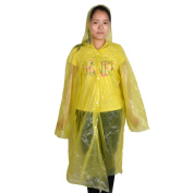 Travel Hiking Plastic Cover Water Resistant Dustproof Disposable Raincoat Yellow