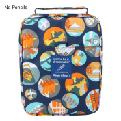 qianshan 100 120 132 144 150 coloured Pencils universal Pencil Bag organiser slots holder pen case School Stationery PencilCase Drawing Painting Storage hard shell Pouch pencil box (no pencils) travel