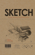 Premium Paper Sketch Book for Pencil, Ink, Marker, Charcoal and Watercolour Paints. Great for Art, Design and Education. (Classic 14cm x 22cm