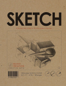 Premium Paper Sketch Book for Pencil, Ink, Marker, Charcoal and Watercolour Paints. Great for Art, Design and Education. (Jumbo 22cm x 28cm