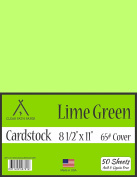 Lime Green Cardstock - 22cm x 28cm - 29kg Cover - 50 Sheets